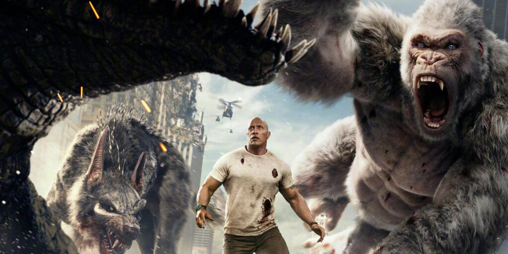 Poster image of The Rock in the movie Rampage